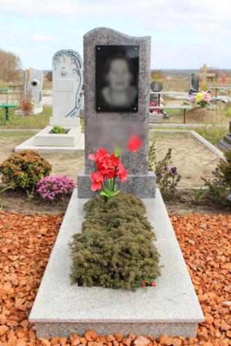 Памятник из гранита. Изготовление и установка памятника Ставрополь. Благоустройство участка. (23)