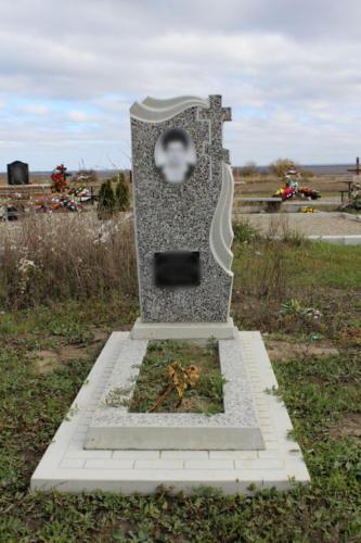 Памятник из крошки. Изготовление и установка памятника Ставрополь. Благоустройство участка. (6)